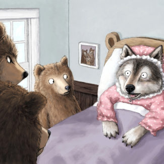 Wolf and Three Bears Fairy Tale Mashup