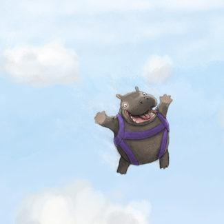 Skydiving Hippo art
